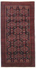 Belouch Patina Alfombra 95X177 Oriental Hecha A Mano Rojo Oscuro/Negro/Marrón Oscuro (Lana, Persia/Irán)