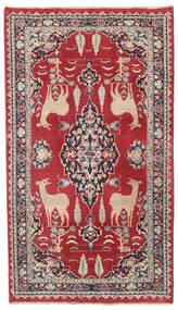 Mashad Patina Alfombra 104X182 Oriental Hecha A Mano Roja/Gris Oscuro (Lana, Persia/Irán)