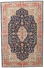 Kerman Patina Alfombra 149X236 Oriental Hecha A Mano Púrpura Oscuro/Rojo Oscuro (Lana, Persia/Irán)