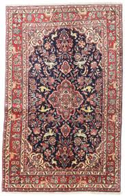 Hamadan Shahrbaf Alfombra 130X208 Oriental Hecha A Mano Gris Oscuro/Beige (Lana, Persia/Irán)