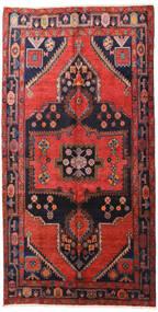 Hamadan Alfombra 160X313 Oriental Hecha A Mano Rojo Oscuro/Negro (Lana, Persia/Irán)