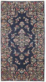 Kerman Patina Alfombra 92X170 Oriental Hecha A Mano Gris Oscuro/Azul Oscuro (Lana, Persia/Irán)