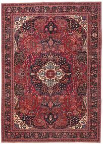 Mashad Patina Alfombra 257X362 Oriental Hecha A Mano Rojo Oscuro/Roja Grande (Lana, Persia/Irán)