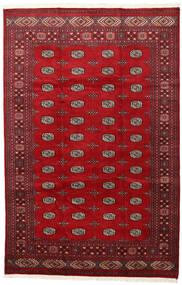 Pakistan Bukara 2Ply Alfombra 202X312 Oriental Hecha A Mano Roja/Rojo Oscuro (Lana, Pakistán)