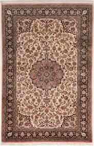 Ghom De Seda Alfombra 75X122 Oriental Hecha A Mano Marrón Oscuro/Marrón (Seda, Persia/Irán)