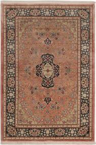 Ghom De Seda Alfombra 99X149 Oriental Hecha A Mano Rojo Oscuro/Marrón Claro (Seda, Persia/Irán)