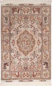 Tabriz 50 Raj Con Seda Alfombra 102X150 Oriental Hecha A Mano Rojo Oscuro/Gris Claro (Lana/Seda, Persia/Irán)