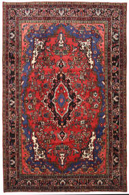 Mehraban Alfombra 205X316 Oriental Hecha A Mano Rojo Oscuro/Negro (Lana, Persia/Irán)