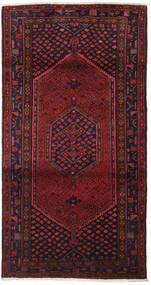 Hamadan Alfombra 102X198 Oriental Hecha A Mano Rojo Oscuro/Marrón Oscuro (Lana, Persia/Irán)