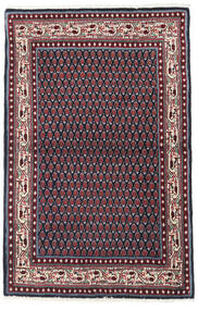 Sarough Mir Alfombra 97X151 Oriental Hecha A Mano Negro/Rojo Oscuro (Lana, Persia/Irán)