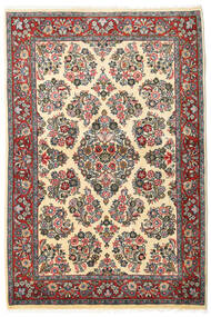 Sarough Alfombra 106X160 Oriental Hecha A Mano Gris Oscuro/Beige Oscuro (Lana, Persia/Irán)