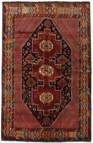 Gashgai Alfombra 157X243 Oriental Hecha A Mano Rojo Oscuro (Lana, Persia/Irán)