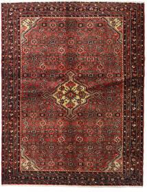 Hosseinabad Alfombra 148X190 Oriental Hecha A Mano Rojo Oscuro/Marrón Oscuro (Lana, Persia/Irán)