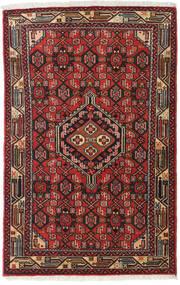 Asadabad Alfombra 79X127 Oriental Hecha A Mano Marrón Oscuro/Rojo Oscuro (Lana, Persia/Irán)