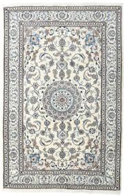 Nain Alfombra 198X304 Oriental Hecha A Mano Gris Claro/Beige (Lana, Persia/Irán)