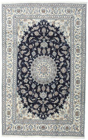 Nain Alfombra 200X308 Oriental Hecha A Mano Gris Oscuro/Gris Claro (Lana, Persia/Irán)