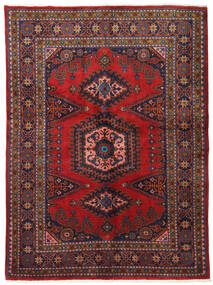 Wiss Alfombra 162X220 Oriental Hecha A Mano Rojo Oscuro/Púrpura Oscuro (Lana, Persia/Irán)