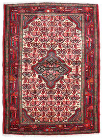 Hamadan Alfombra 85X117 Oriental Hecha A Mano Marrón Oscuro/Roja (Lana, Persia/Irán)