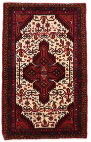 Hamadan Alfombra 83X133 Oriental Hecha A Mano Rojo Oscuro/Beige (Lana, Persia/Irán)