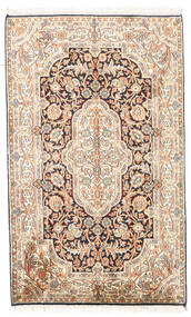 Cachemira Pura De Seda Alfombra 78X127 Oriental Hecha A Mano Beige/Marrón Claro (Seda, India)