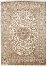 Cachemira Pura De Seda Alfombra 175X249 Oriental Hecha A Mano Beige/Gris Claro (Seda, India)