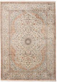 Cachemira Pura De Seda Alfombra 173X243 Oriental Hecha A Mano Gris Claro/Beige (Seda, India)