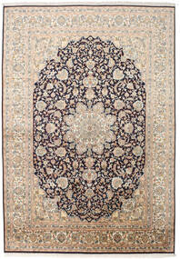 Cachemira Pura De Seda Alfombra 169X244 Oriental Hecha A Mano Beige/Gris Oscuro (Seda, India)