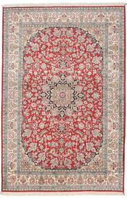 Cachemira Pura De Seda Alfombra 126X189 Oriental Hecha A Mano Beige/Gris Claro (Seda, India)