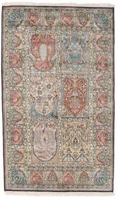 Cachemira Pura De Seda Alfombra 98X161 Oriental Hecha A Mano Gris Claro/Gris Oscuro (Seda, India)