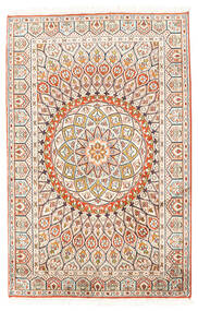 Cachemira Pura De Seda Alfombra 80X124 Oriental Hecha A Mano Beige/Gris Claro (Seda, India)