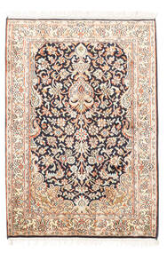 Cachemira Pura De Seda Alfombra 65X94 Oriental Hecha A Mano Beige/Blanco/Crema (Seda, India)