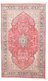 Cachemira Pura De Seda Alfombra 92X154 Oriental Hecha A Mano Beige/Rosa Claro (Seda, India)