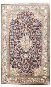 Cachemira Pura De Seda Alfombra 95X158 Oriental Hecha A Mano Gris Claro/Beige (Seda, India)