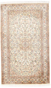 Cachemira Pura De Seda Alfombra 92X153 Oriental Hecha A Mano Blanco/Crema/Gris Claro (Seda, India)