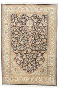 Cachemira Pura De Seda Alfombra 124X182 Oriental Hecha A Mano Beige/Beige Oscuro (Seda, India)