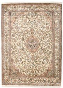 Cachemira Pura De Seda Alfombra 160X217 Oriental Hecha A Mano Beige/Marrón Claro (Seda, India)