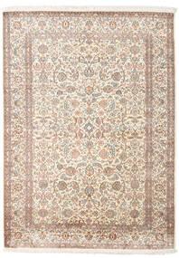 Cachemira Pura De Seda Alfombra 158X217 Oriental Hecha A Mano Gris Claro/Beige (Seda, India)