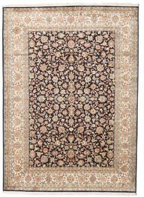 Cachemira Pura De Seda Alfombra 158X218 Oriental Hecha A Mano Beige/Gris Oscuro (Seda, India)