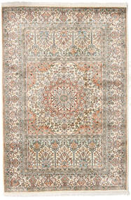 Cachemira Pura De Seda Alfombra 127X186 Oriental Hecha A Mano Gris Claro/Beige (Seda, India)