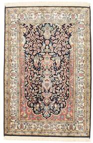 Cachemira Pura De Seda Alfombra 81X120 Oriental Hecha A Mano Beige/Gris Oscuro (Seda, India)