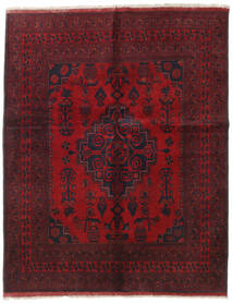 Afghan Khal Mohammadi Alfombra 155X194 Oriental Hecha A Mano Rojo Oscuro/Roja (Lana, Afganistán)