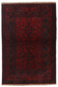 Afghan Khal Mohammadi Alfombra 101X148 Oriental Hecha A Mano Rojo Oscuro (Lana, Afganistán)