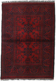 Afghan Khal Mohammadi Alfombra 103X146 Oriental Hecha A Mano Rojo Oscuro (Lana, Afganistán)