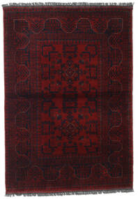 Afghan Khal Mohammadi Alfombra 106X150 Oriental Hecha A Mano Rojo Oscuro (Lana, Afganistán)