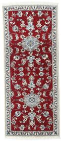 Nain Alfombra 80X200 Oriental Hecha A Mano Rojo Oscuro/Roja (Lana, Persia/Irán)