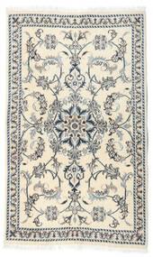 Nain Alfombra 87X146 Oriental Hecha A Mano Beige/Blanco/Crema (Lana, Persia/Irán)