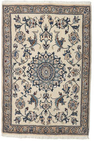 Nain Alfombra 91X134 Oriental Hecha A Mano Gris Claro/Beige (Lana, Persia/Irán)
