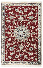 Nain Alfombra 89X139 Oriental Hecha A Mano Rojo Oscuro/Beige/Gris Claro (Lana, Persia/Irán)