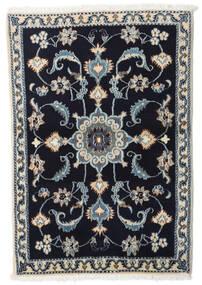 Nain Alfombra 88X130 Oriental Hecha A Mano Púrpura Oscuro/Gris Claro (Lana, Persia/Irán)