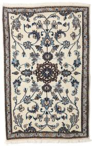 Nain Alfombra 88X138 Oriental Hecha A Mano Beige/Negro (Lana, Persia/Irán)